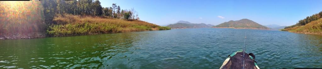 Panorama billede fra Mae Kuang Dam